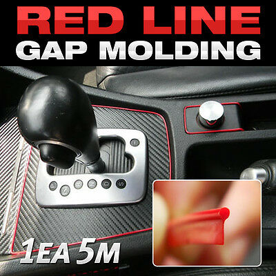 Edge Gap Red Interior Point Molding Accessory Garnish 5 meters for DODGE Viper