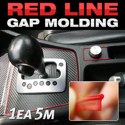 Edge Gap Red Interior Point Molding Accessory Garnish 5 meters for ALFA ROMEO 4C