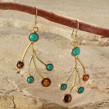 New Tara Mesa Turquoise & Tiger's Eye Dangle Earrings [MSRP~$200]