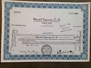 Weinschel-Engineering-Co-Inc-capital-stock-certificate-No-3781-dated-1968