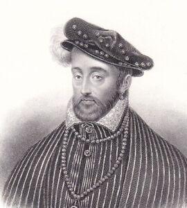 Portrait-XIXe-Henri-II-Valois-d-039-Angouleme-Catherine-de-Medicis