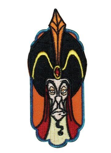 Disney Aladdin Jafar Patch Evil Sultan Villain Crest IronOn Applique