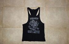 Dsquared² D2 BUCK'S REVENGE Cotton-Flax Canotta Singlet T-shirt S 71NC075 SS/10