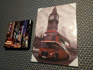 TABLEAUX DECORATION LONDON ET NEW YORK EXCELLENT ETAT