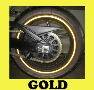Gold Rim Tape Decals Vinyl Stickers Stripes Reflective - Vinyl stripes for motorcycles