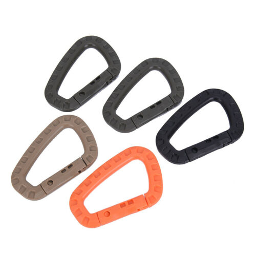 5pcs Mountaineering Buckle Snap Clip Plastic Hook Climbing Carabiner D ShapeMA