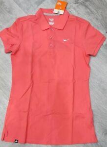 Nike Womens Golf Polo Shirt Club Pique Polo Cotton Top UK M S 410127 ... e2ea53c16