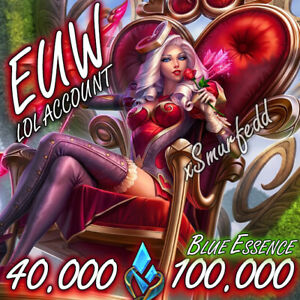 League of Legends Account LOL EUW 20000 20k IP Be Smurf Level 30 Unranked Europe