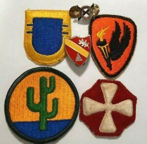 USA Lot de 4 patchs + 2 insignes