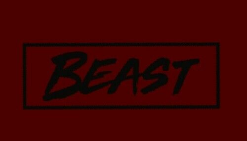 MR BEAST IRON ON Decal Inches 6 X 2 Black