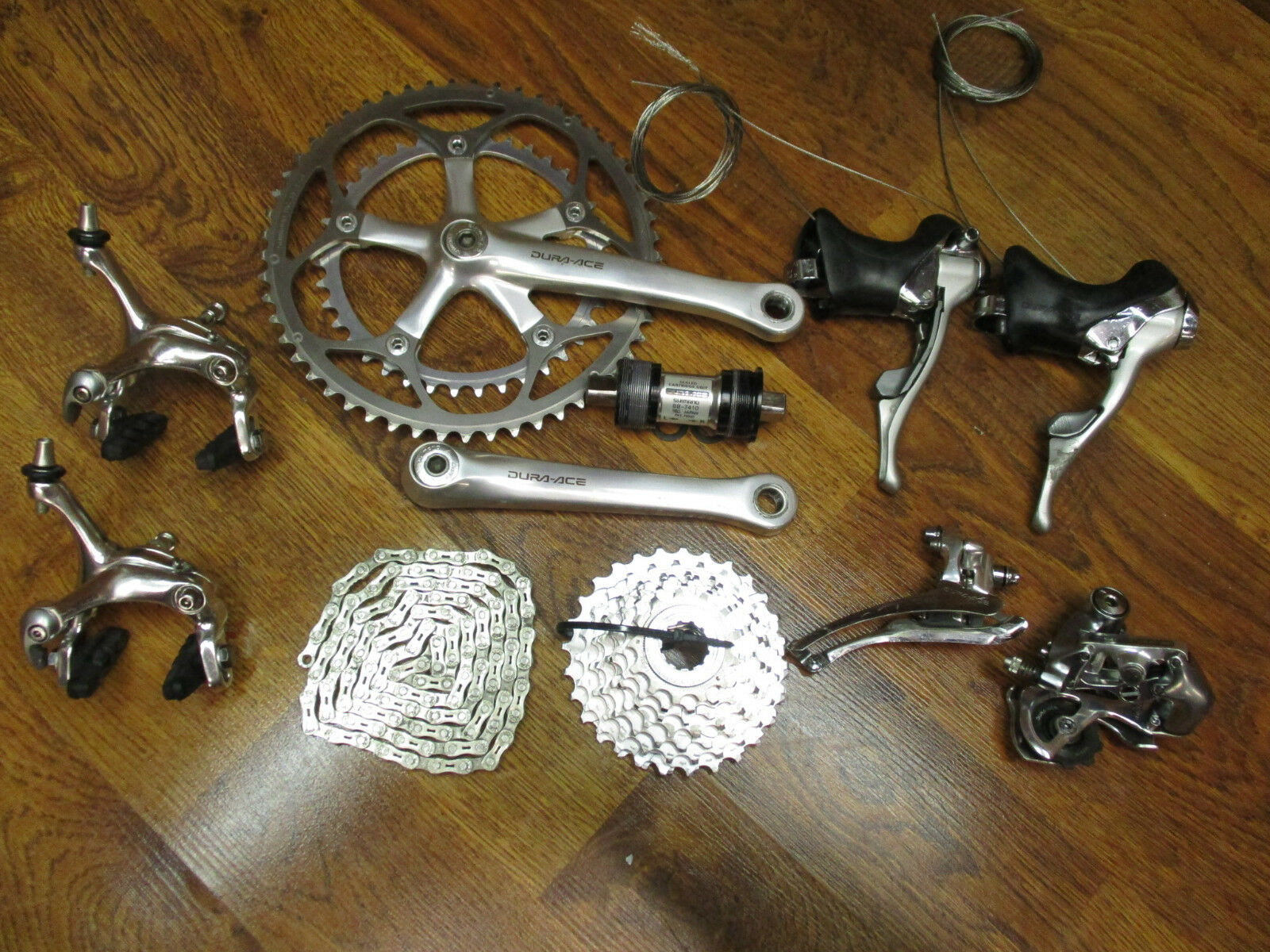 VINTAGE SHIMANO DURA ACE 7410 170L  53 39 2X 8 STI SPEED GROUP GRUPPO BUILD KIT  cheapest