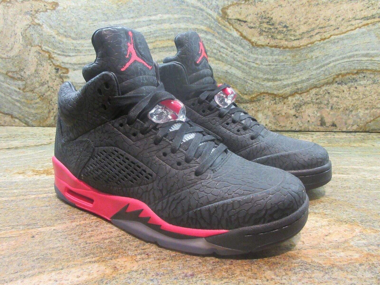 2013 Nike Air Jordan 3Lab5 Retro SZ 9 Black 5 Infrared 3 Cement OG 599581-010