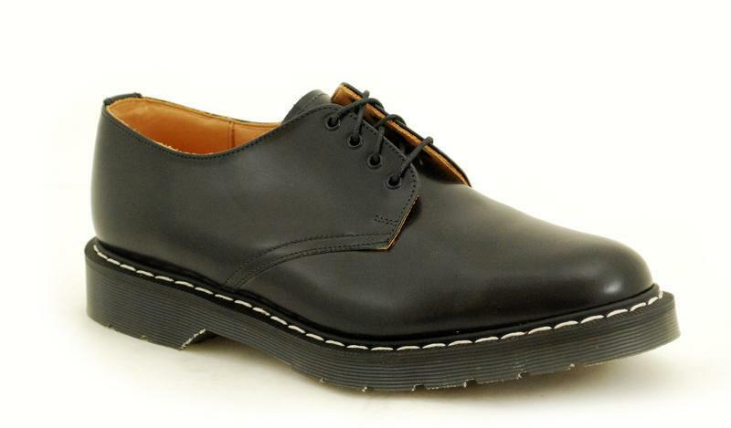 economico online Solovair NPS scarpe made in England 4 4 4 Eye nero scarpe bianca Mondo s034-sl4996bkw  design semplice e generoso