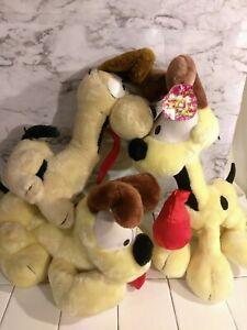 Vintage Garfield Large Odie Plush Dog Lot Collection Stuffed Animals Dakin 80s Ebay