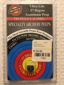 Specialty Archery 749-37UL BK S/&S 37 Degree Black Ultra Lite Peep Sight