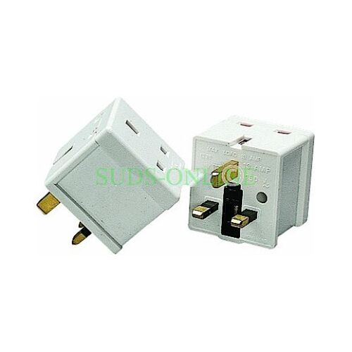 2 x 2 Way Adaptor Adapter Multi Plug Electrical Electric Socket 13 AMP BS