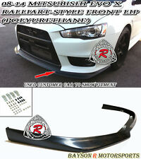 Ral-Style Front Lip (Urethane) Fits 08-15 Mitsubishi EVO X 10 [EVO BUMPER ONLY]