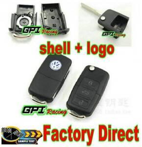 Remote-Key-Case-Shell-VW-VOLKSWAGEN-Golf-Beetle-BORA-PASSAT-Jetta
