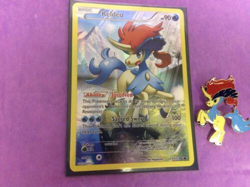 Mythical KELDEO HOLO PROMO Card XY118 /& KELDEO PIN XY Generations NEW MINT