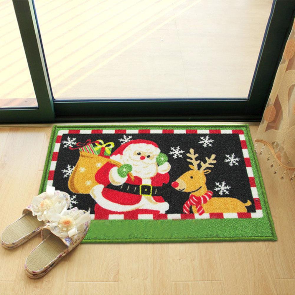 Merry Christmas Rug Door Mat Non Slip Indoor Entrance Mats