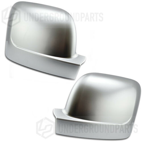 RENAULT TRAFIC 2014 SATIN CHROME SILVER SIDE DOOR WING MIRROR COVERS CAPS TRIMS