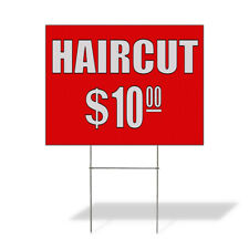 Weatherproof Yard Sign Hair Cuts 10 Custom Price Red Lawn Garden