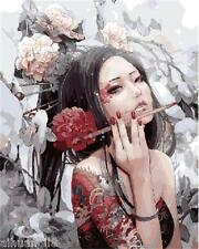 """16X20"""" DIY Paint By Number Kit Oil Painting On Canvas--Anime Beauty Cherry 617"""
