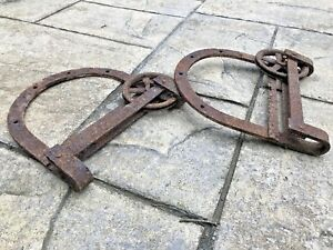 Details About Antique Sliding Barn Door Hardware Horse Shoe Rollers Large 13 Inch