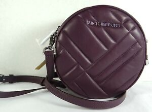 24b8d3080394 Image is loading Michael-Kors-Medium-Vivianne-Canteen -Quilted-Damson-Leather-