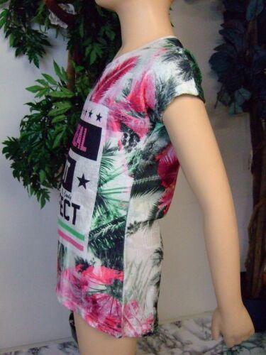Größe 140  NEU Kinder Mädchen Sommer-T-Shirt Farbe bunt mit Blumenmotiv 8-56