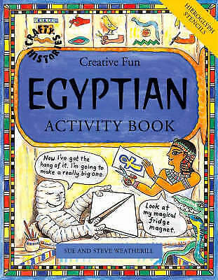 1 of 1 - Egyptian Activity Book by Steve and Weatherill, Paperback NEW FREE P&P