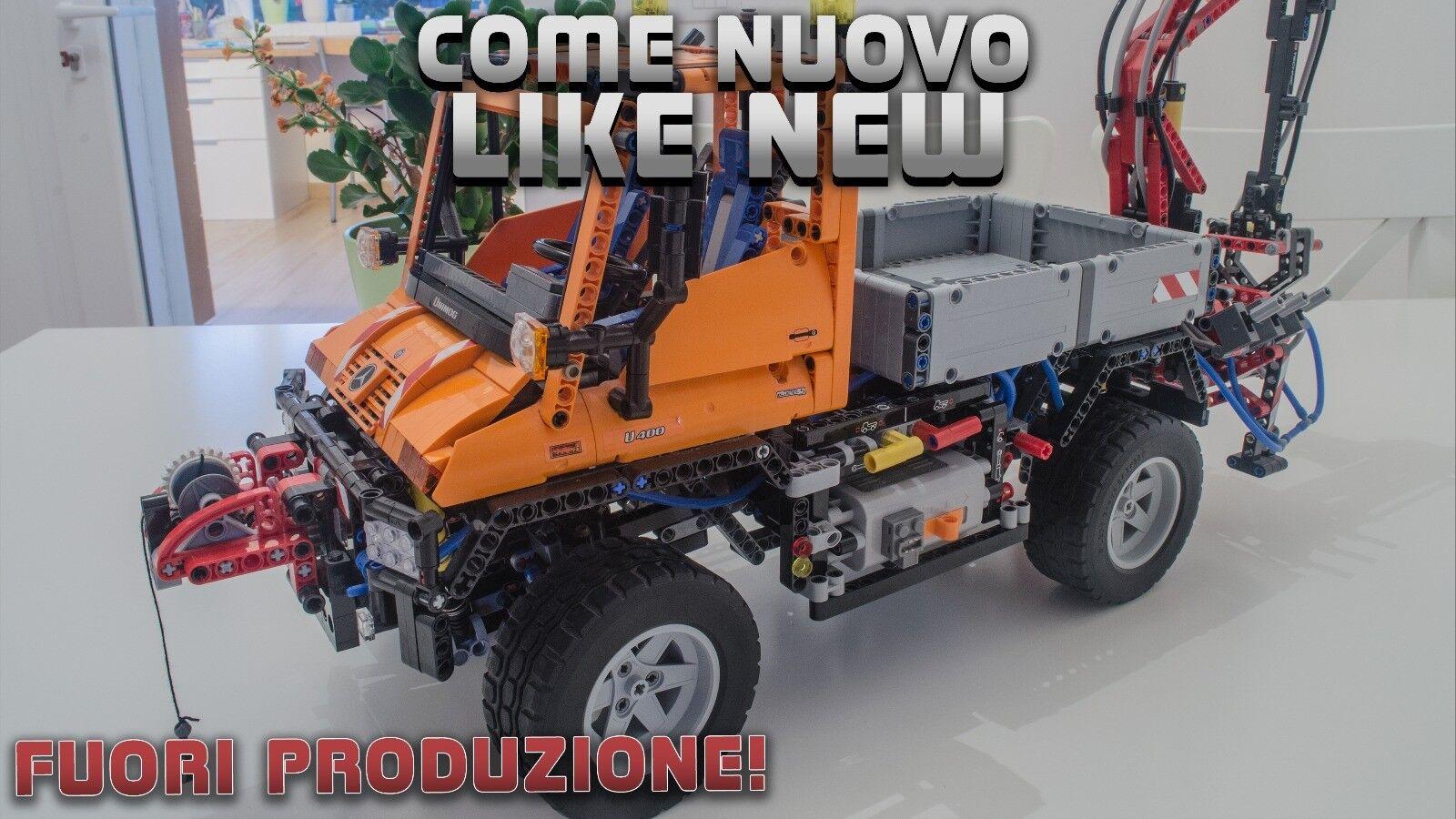 Lego Technic 8110 Unimog U400 4x4 Fuori Produzione Come Nuovo Preassemblato