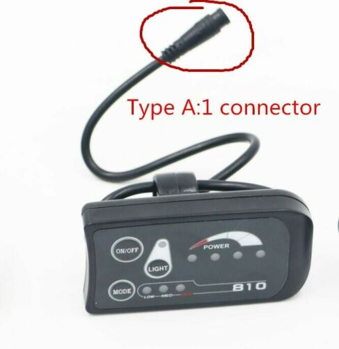 Authentic Waterproof Connector 810 LED Display for Electric Bicycle