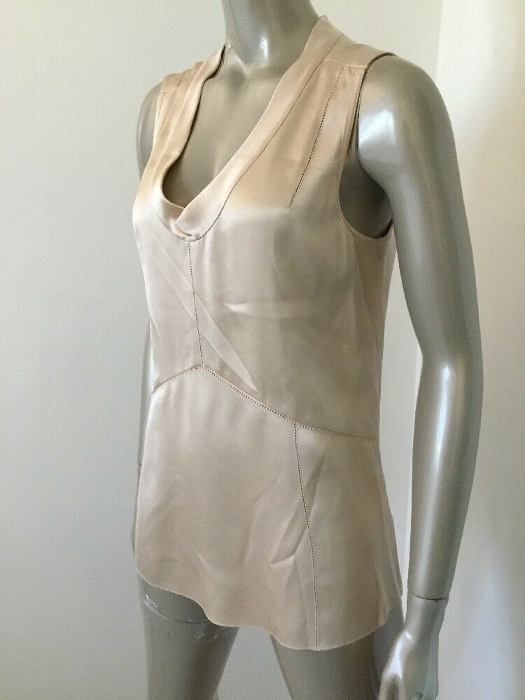 NWT TORY BURCH Rosa JASMINE SHELL PURE SILK Größe 8  SLEEVELESS TOP