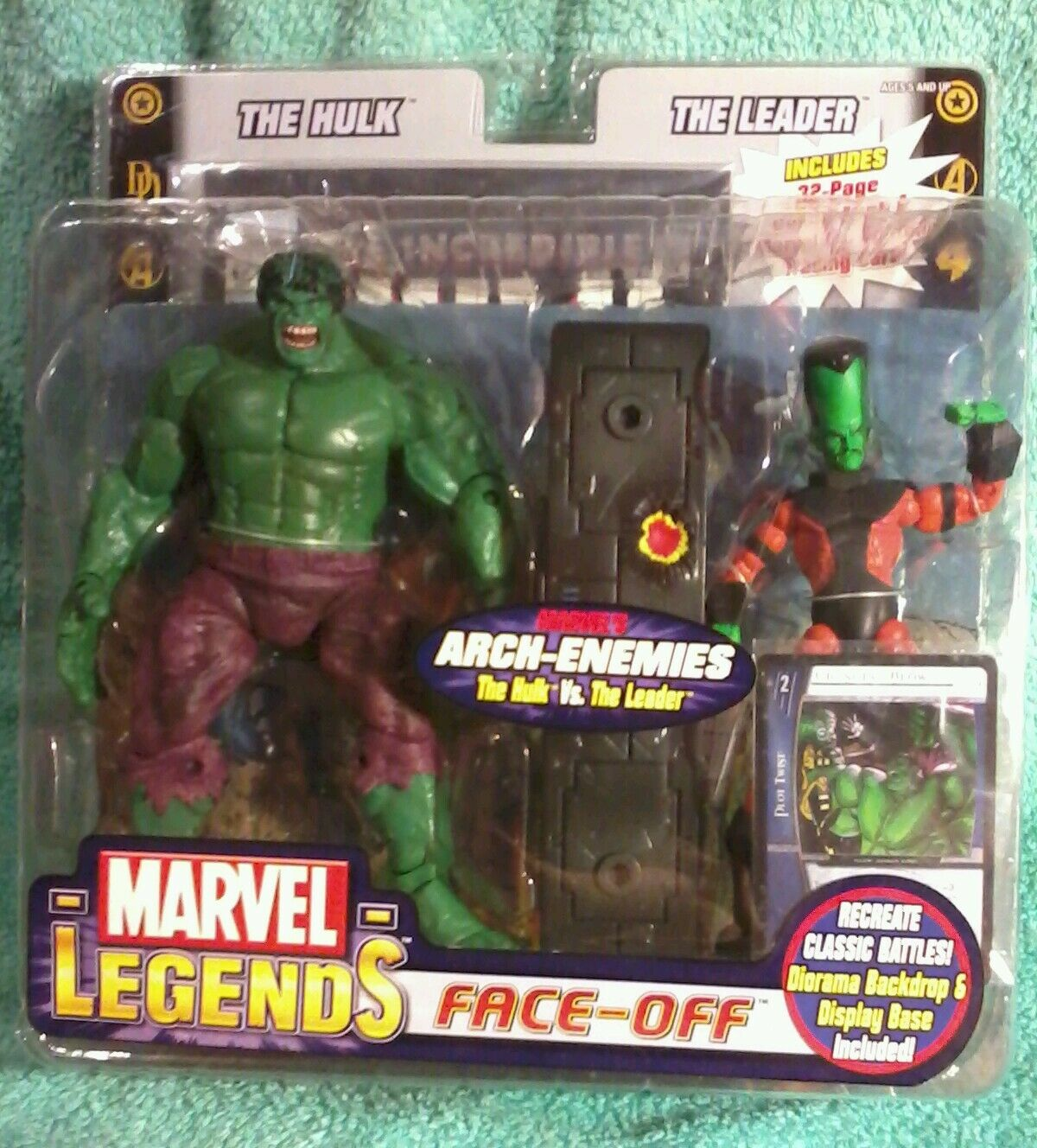 HULK vs LEADER long head variant   Marvel Legends Face-Off   toybiz Figure