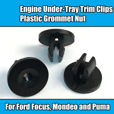 20x For Ford Focus Mondeo Puma Engine Under-Tray Trim Clips Plastic Grommet Nut