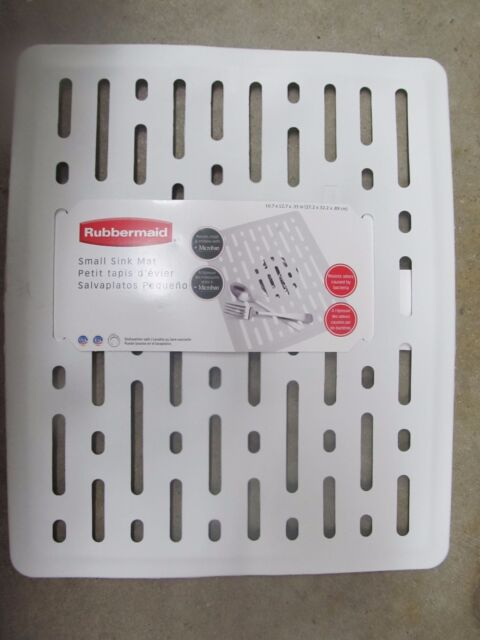 Rubbermaid 1g1706wht Evolution Small Sink Mat White For