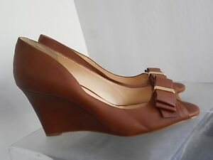 757761c6cbc Image is loading Jessica-Simpson-Lynden-Wedge-Bow-Pumps-Almond-8-