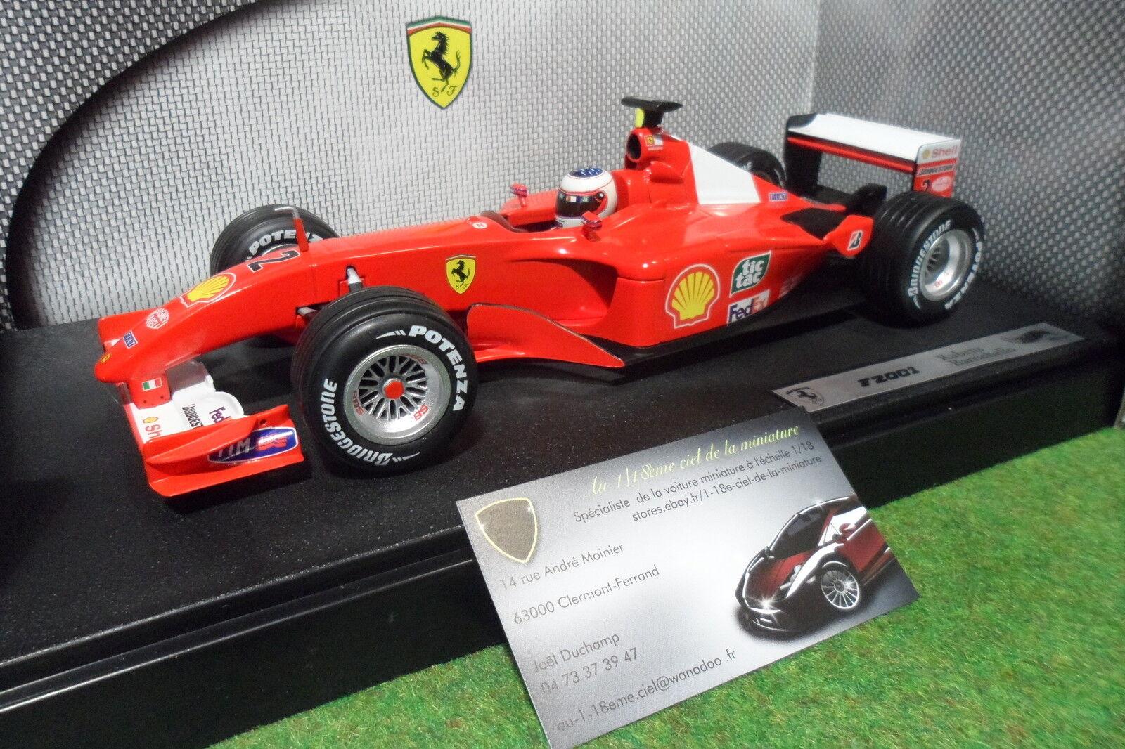 F1 FERRARI F2001   2 BARRICHELLO 1 18 HOT Wtalons 50203 voitur miniature formule 1  offrant 100%