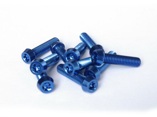 Aluschrauben blau 10 Stück Aluminium Schrauben 7075er M6x20 mit T25 Torx