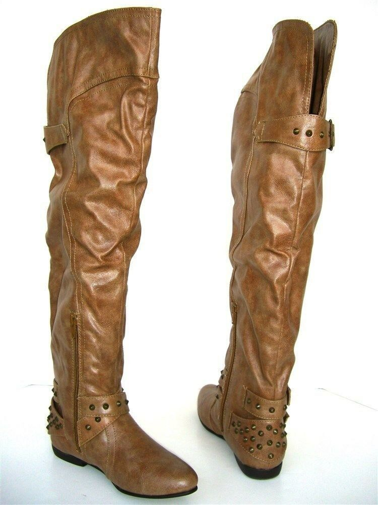 Style & Co. Women's Daffney Stud Boots Natural Light Brown Size 5 M