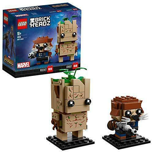LEGO 41626 BrickHeadz Marvel Avengers Infinity War Movie Groot and Rocket Legend