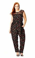 NWT City Chic Daisy Love Jumpsuit Plus Size 24w 3X 4X Floral Pantsuit