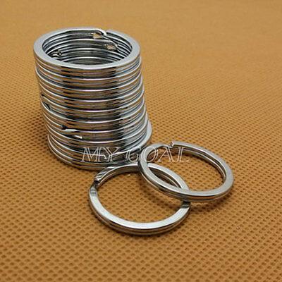 20Pcs Metal Key Holder Split Rings Keyring Keychain Keyfob Accessories Gift 30mm