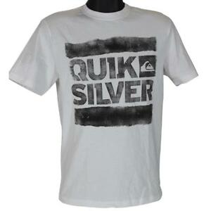 535d86fe1e8ec Quiksilver CLUTCH Tee White Size S Small Mens Boys Casual Surf Logo ...