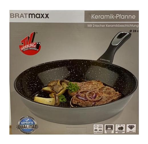 culinario Bratpfanne mit Keramikbeschichtung Ø 28cm anthrazit antihaft Induktion