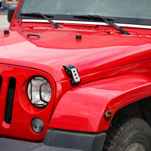 Fit Jeep Wrangler JK JKU JL 2017 Stainless Steel Latches Locking Hood Catch Set
