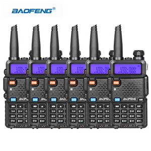 6PCS-Baofeng-UV-5R-Walkie-Talkie-Headset-VHF-UHF-Ham-Portable-2-Way-Radio-DCS