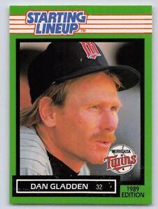 1989  DAN GLADDEN - Kenner Starting Lineup Card - MINNESOTA TWINS