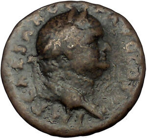 VESPASIAN-74AD-Rome-Victory-on-Galley-Authentic-Ancient-Roman-Coin-i52770